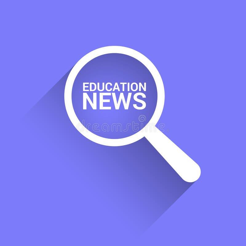 Nachrichten-Konzept: Optisches Vergrößerungsglas mit Wort-Bildungs-Nachrichten vektor abbildung