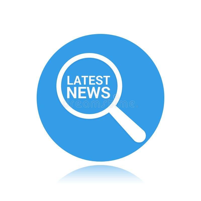 Nachrichten-Konzept: Optisches Vergrößerungsglas mit Wort-spät Nachrichten stock abbildung