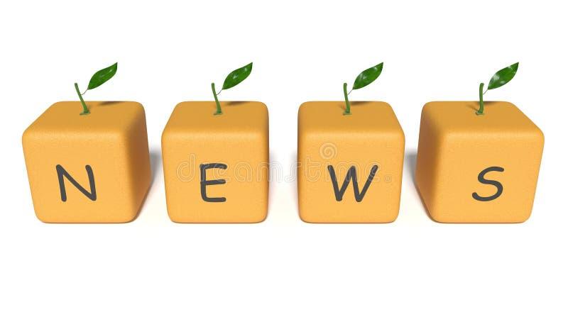 Nachrichten: orange Würfel auf einem weißen Hintergrund vektor abbildung