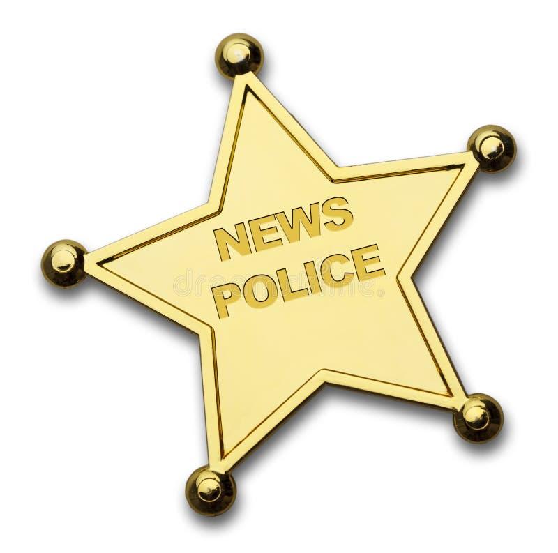 Nachrichten-Polizei lizenzfreie abbildung