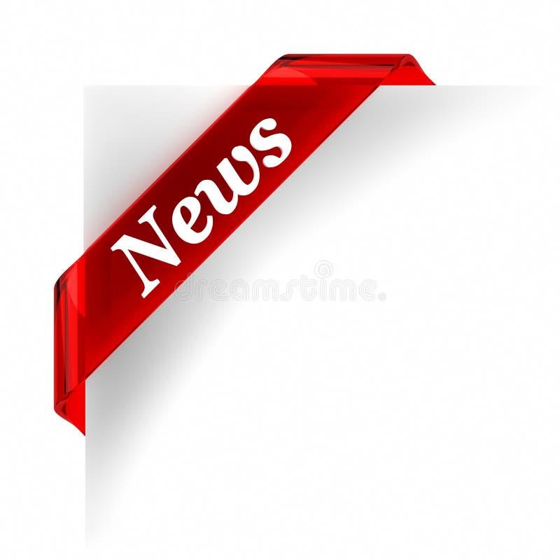 Nachrichten-Rot stock abbildung