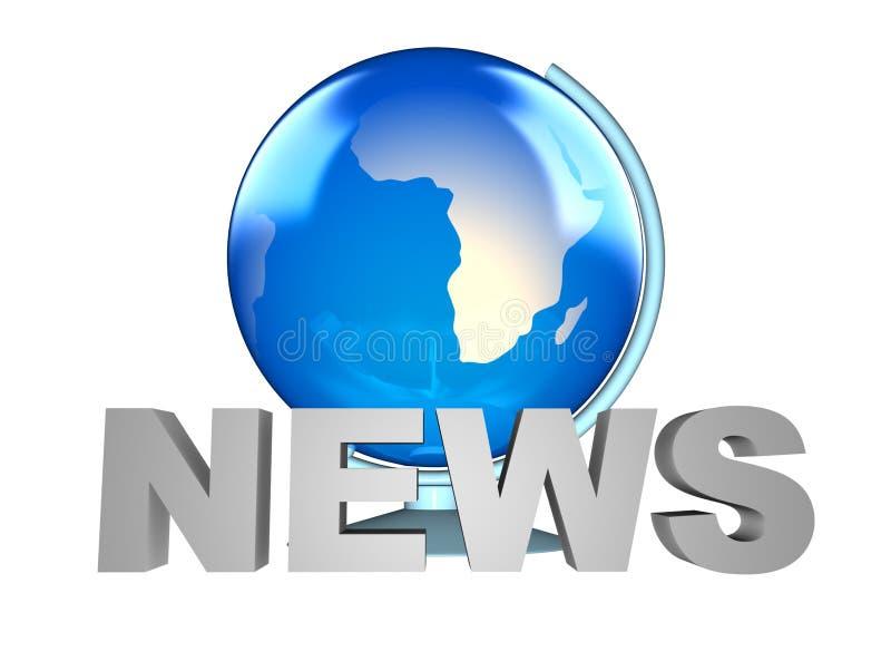 Nachrichten- und Erdekugel vektor abbildung