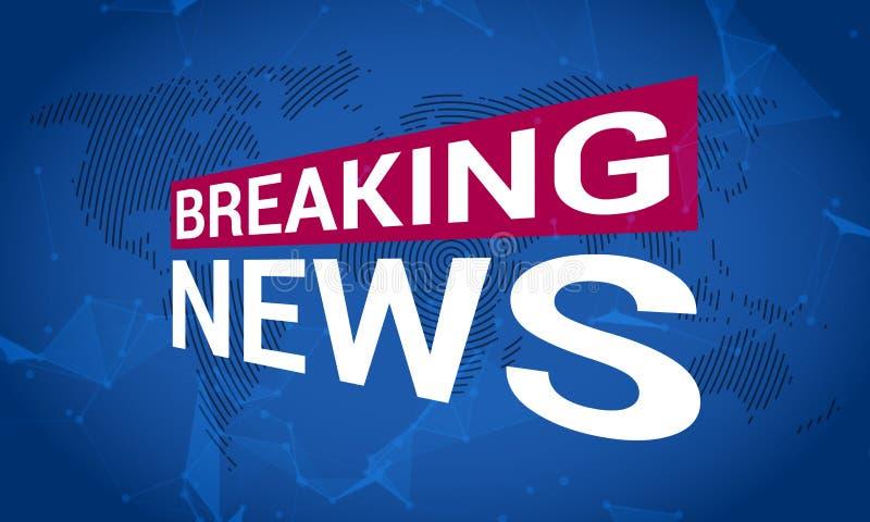 Nachrichtenfernsehen, letzte Nachrichten, Sendungskanalschlagzeile stock abbildung