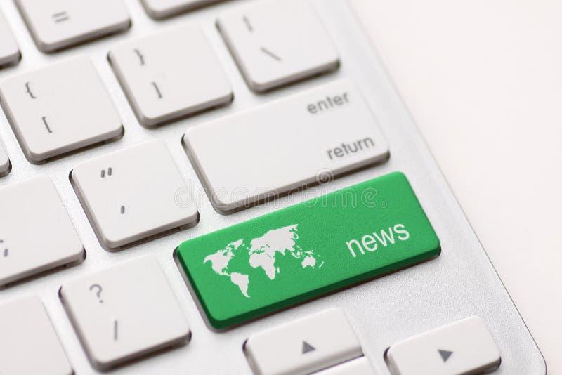 Nachrichtenschlüssel lizenzfreies stockfoto