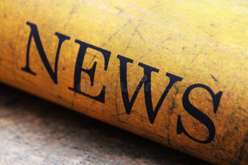 Nachrichtentext auf Schmutzhintergrund lizenzfreies stockfoto