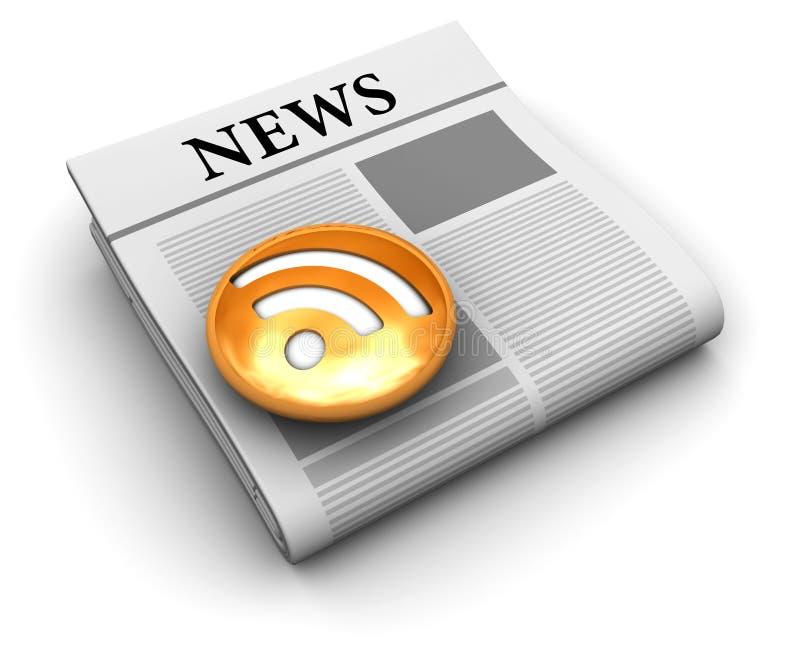 Nachrichtenzufuhr lizenzfreie abbildung