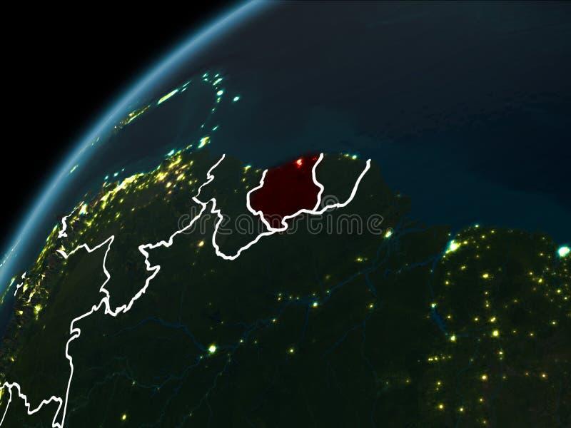 Nacht über Surinam vektor abbildung