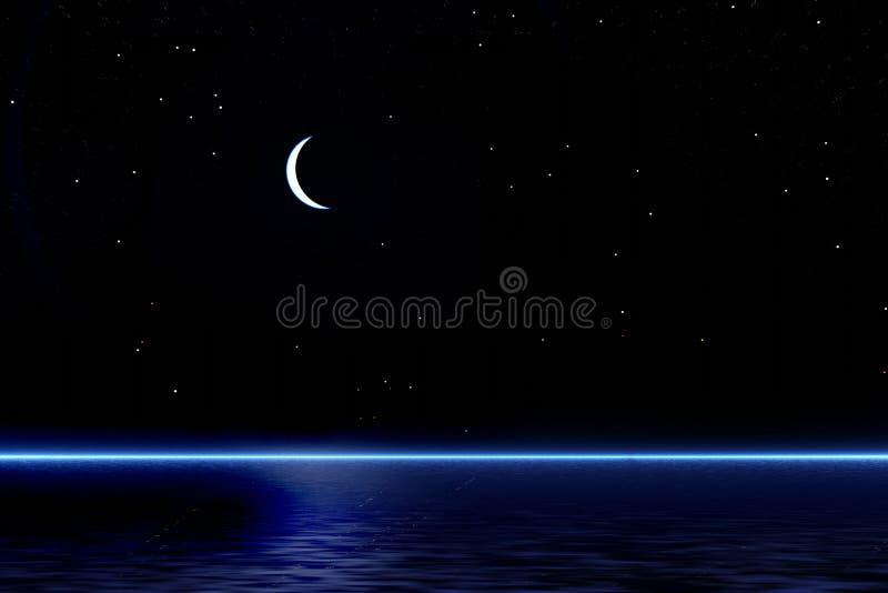 Nacht royalty-vrije illustratie