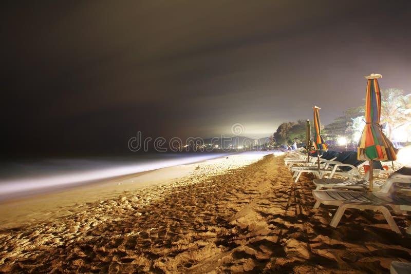 Nacht auf dem Strand stockfoto