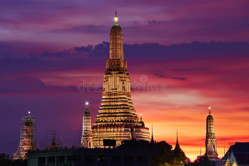 Nacht in Bangkok stock fotografie