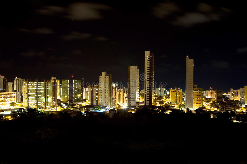 Nacht in Brasilien stockfotos
