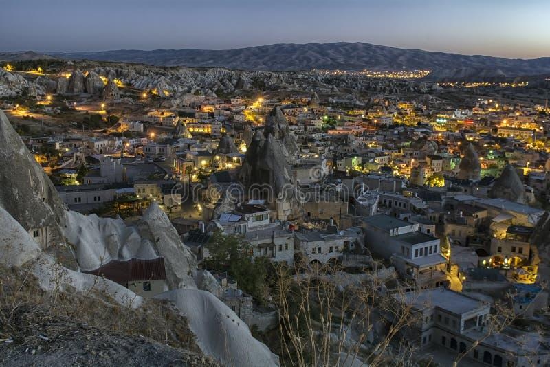 Nacht Cappadocia die Türkei lizenzfreies stockbild