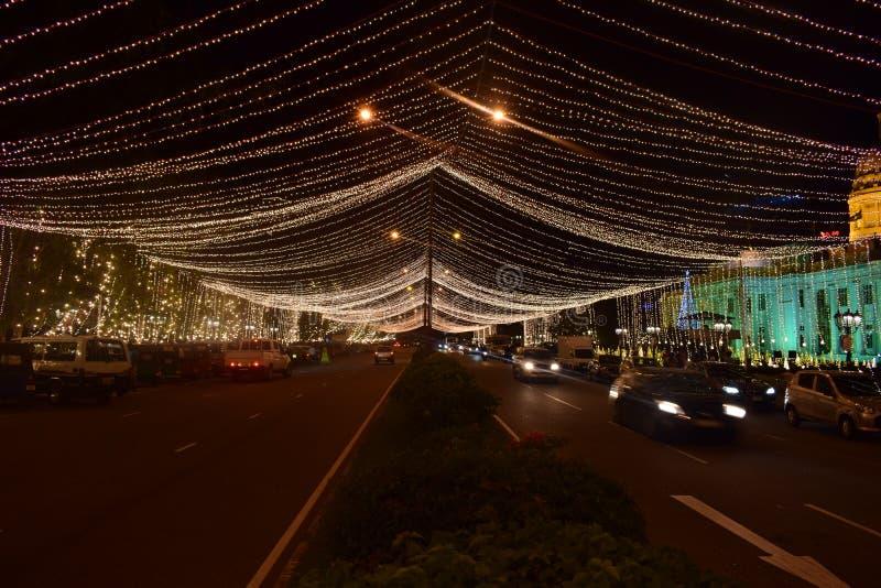 @ nacht in Colombo - Sri Lanka royalty-vrije stock fotografie