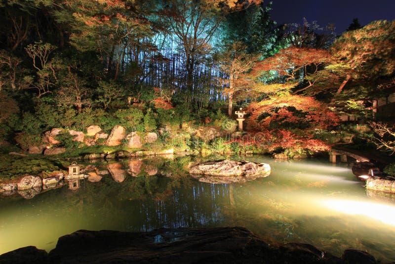 Nacht in de herfst bij shoren-in Tempel royalty-vrije stock afbeelding