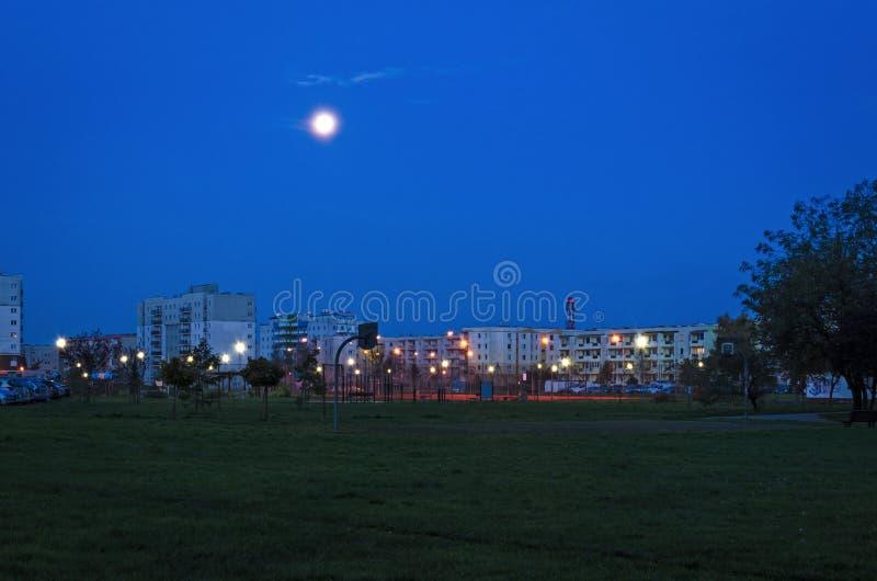 Nacht in de stad royalty-vrije stock foto