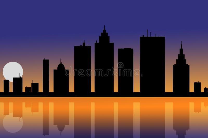 Nacht in de stad stock fotografie