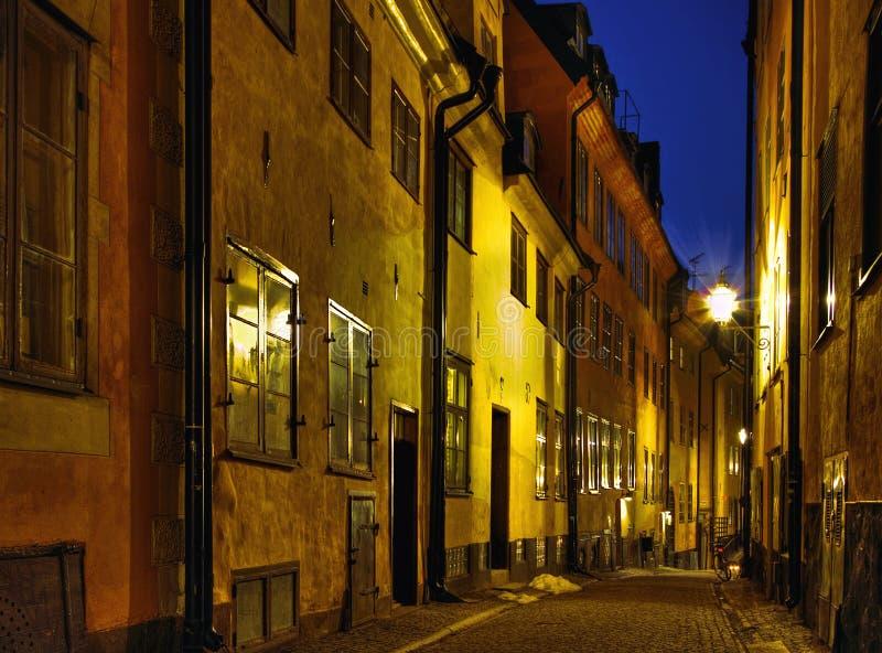 Nacht in der alten Stadt. stockfoto