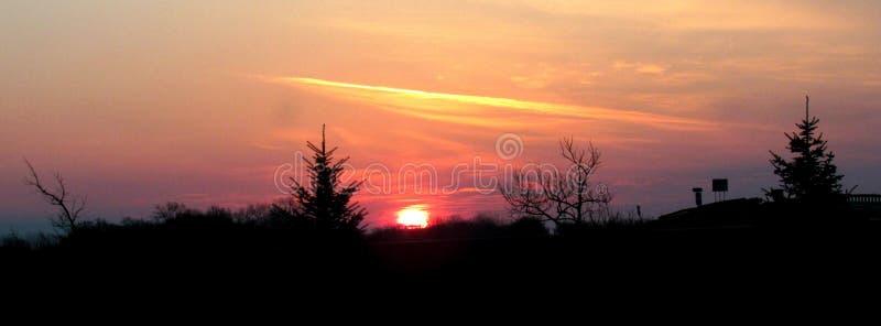 Nacht die Dawn Breaking langzaam verdwijnen royalty-vrije stock foto's