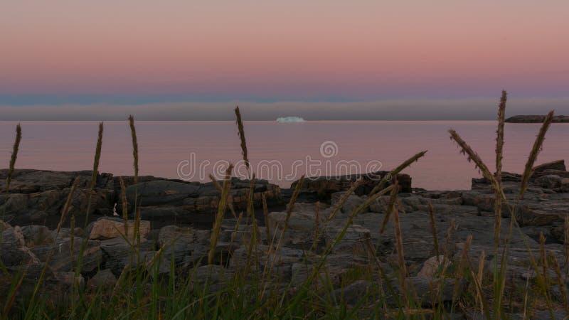 Nacht in Groenland stock fotografie