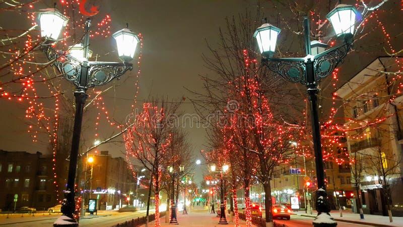 nacht Grozny stock fotografie