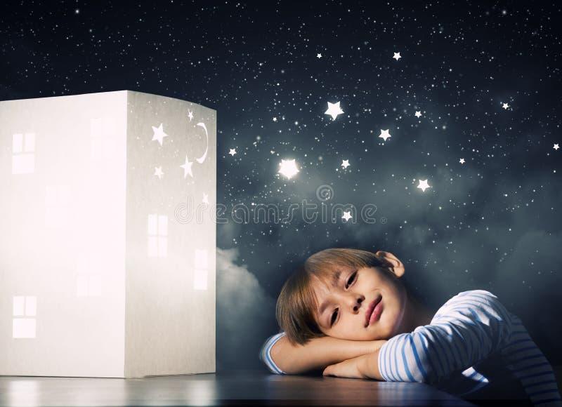 Nacht het dromen royalty-vrije stock foto