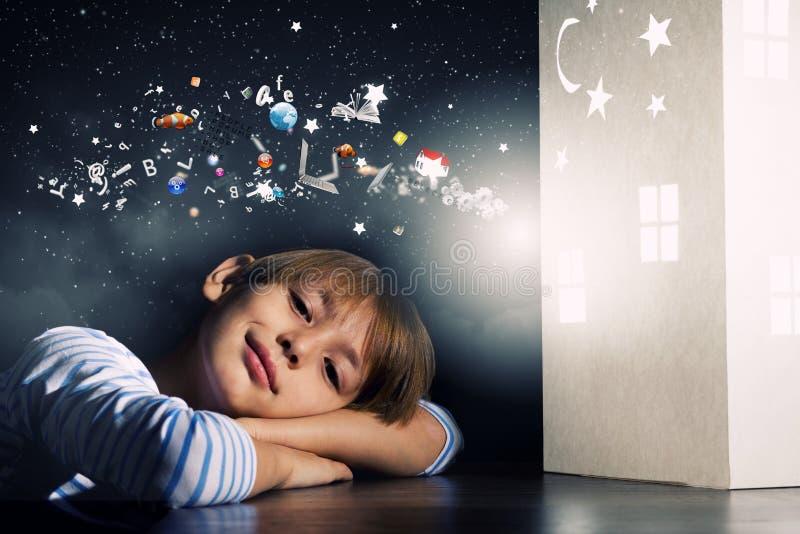 Nacht het dromen royalty-vrije stock afbeeldingen