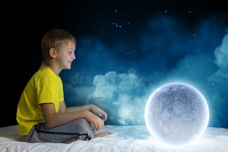Nacht het dromen stock afbeelding