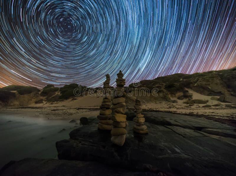 Nacht in het strand royalty-vrije stock foto