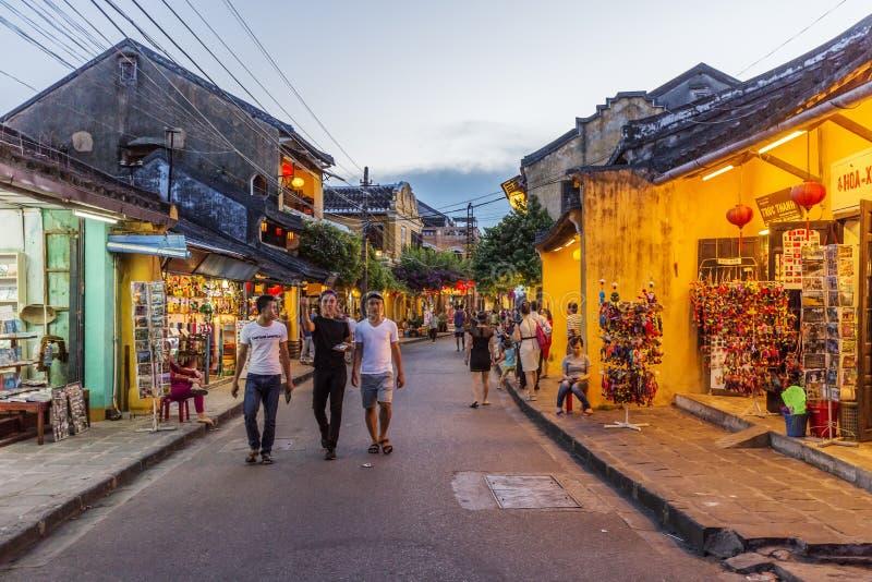 Nacht, Hoi An, Vietnam lizenzfreie stockfotos