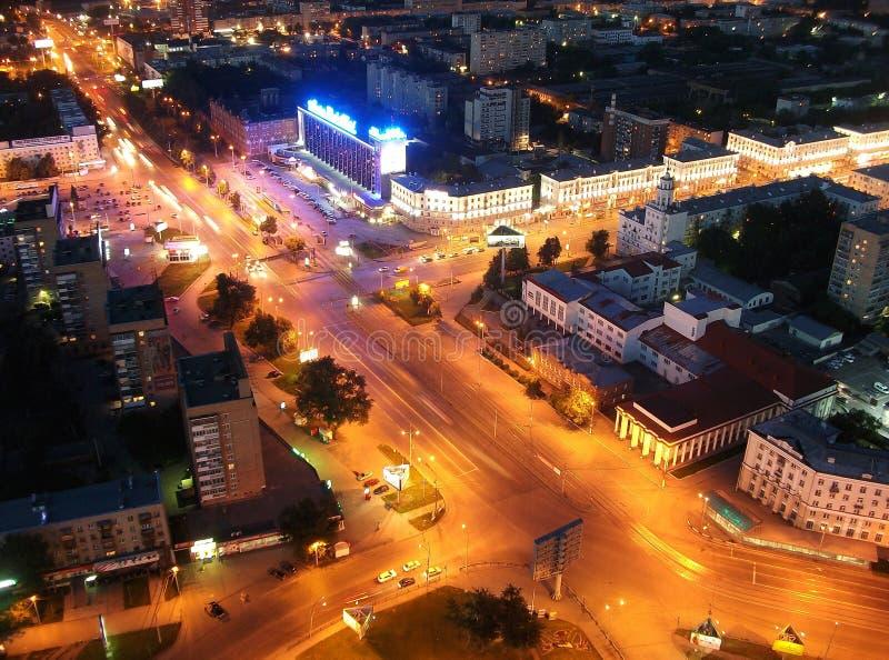 Nacht in Jekaterinburg lizenzfreie stockfotos