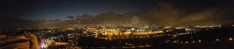 Nacht-Jerusalem-Stadtstadt stockbilder