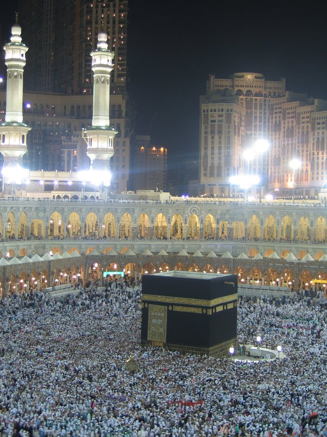 Nacht Kaaba stockfotografie