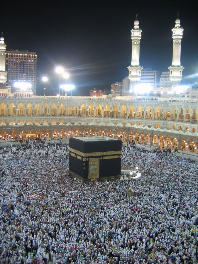 Nacht Kaaba lizenzfreie stockfotografie