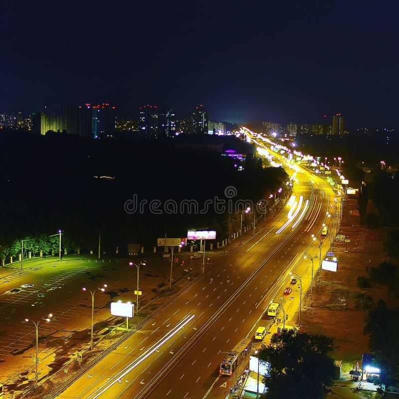 Nacht Kyiv royalty-vrije stock foto's