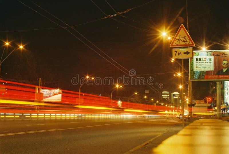 Nacht Kyiv Nachtrahmen stockfotografie