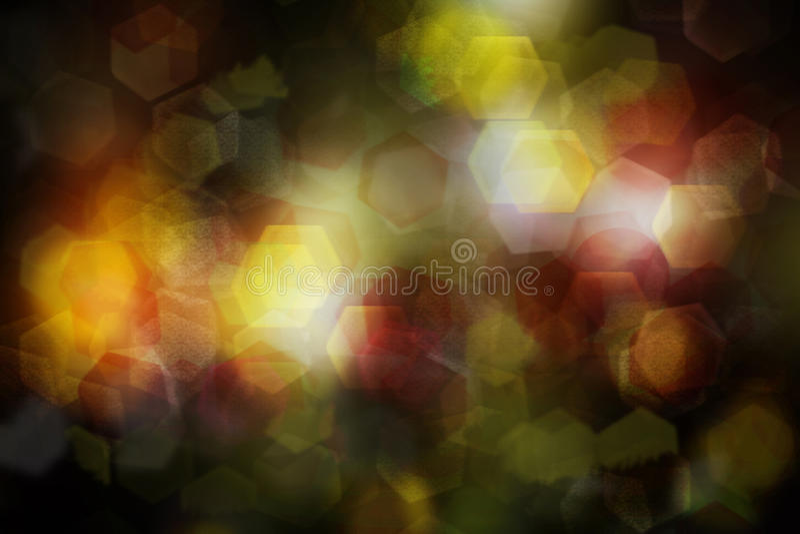 Nacht lichte kleurrijke bokeh, abstracte achtergrond stock foto