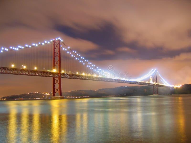 Nacht in Lissabon stock afbeeldingen