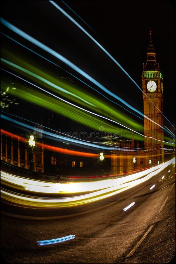 Nacht in London stockfotografie