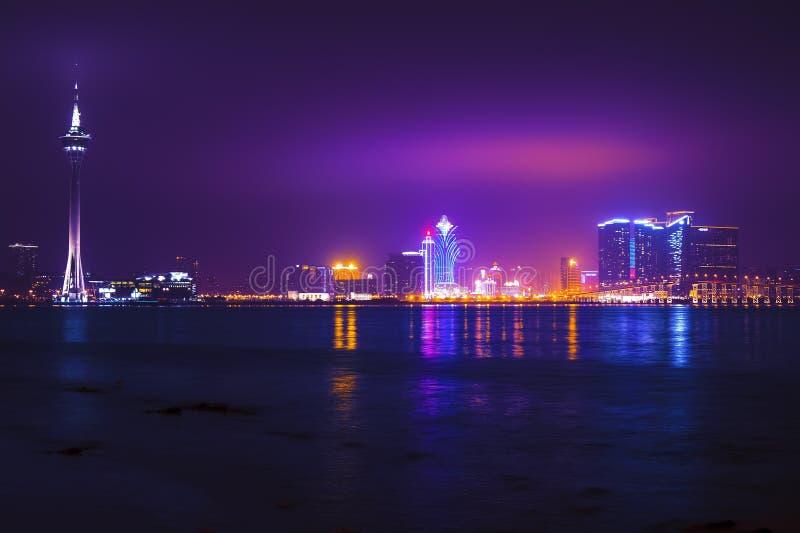 Nacht Macao. royalty-vrije stock fotografie