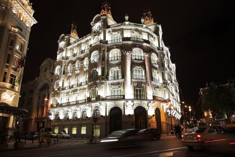 Nacht Madrid. stock foto's