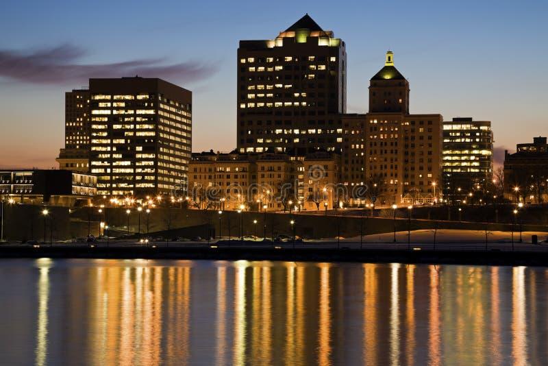 Nacht in Milwaukee stockfotografie
