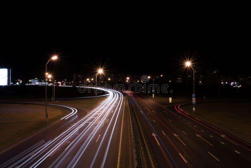 Nacht Minsk lizenzfreies stockbild