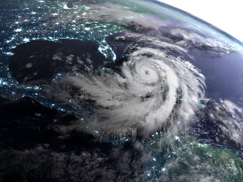 Nacht mit Hurrikan lizenzfreie abbildung