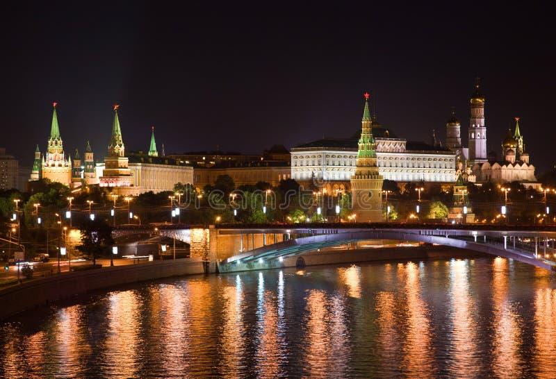 Nacht Moskou royalty-vrije stock foto's