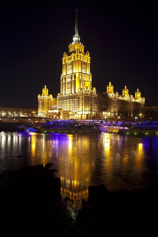 Nacht Moskou stock afbeeldingen