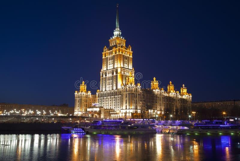 Nacht Moskou stock foto's