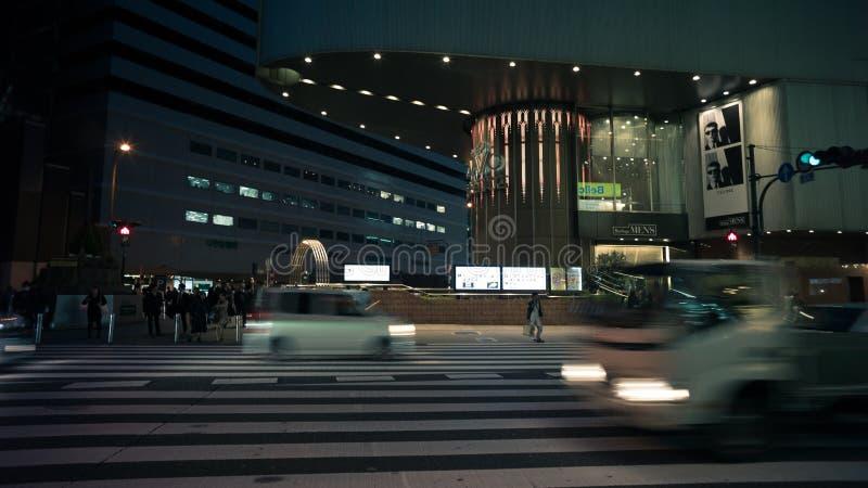 Nacht in Osaka, Japan royalty-vrije stock fotografie