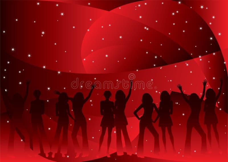 nacht partij stock illustratie