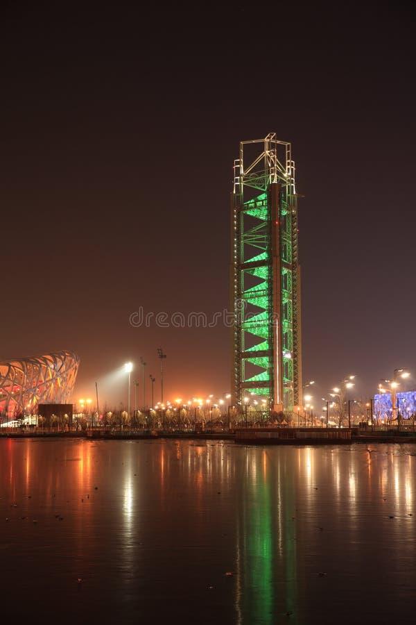 Download Nacht Peking redaktionelles foto. Bild von turnhalle - 12201776