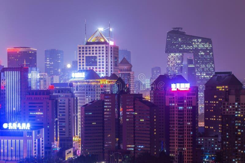 Nacht in Peking royalty-vrije stock afbeeldingen